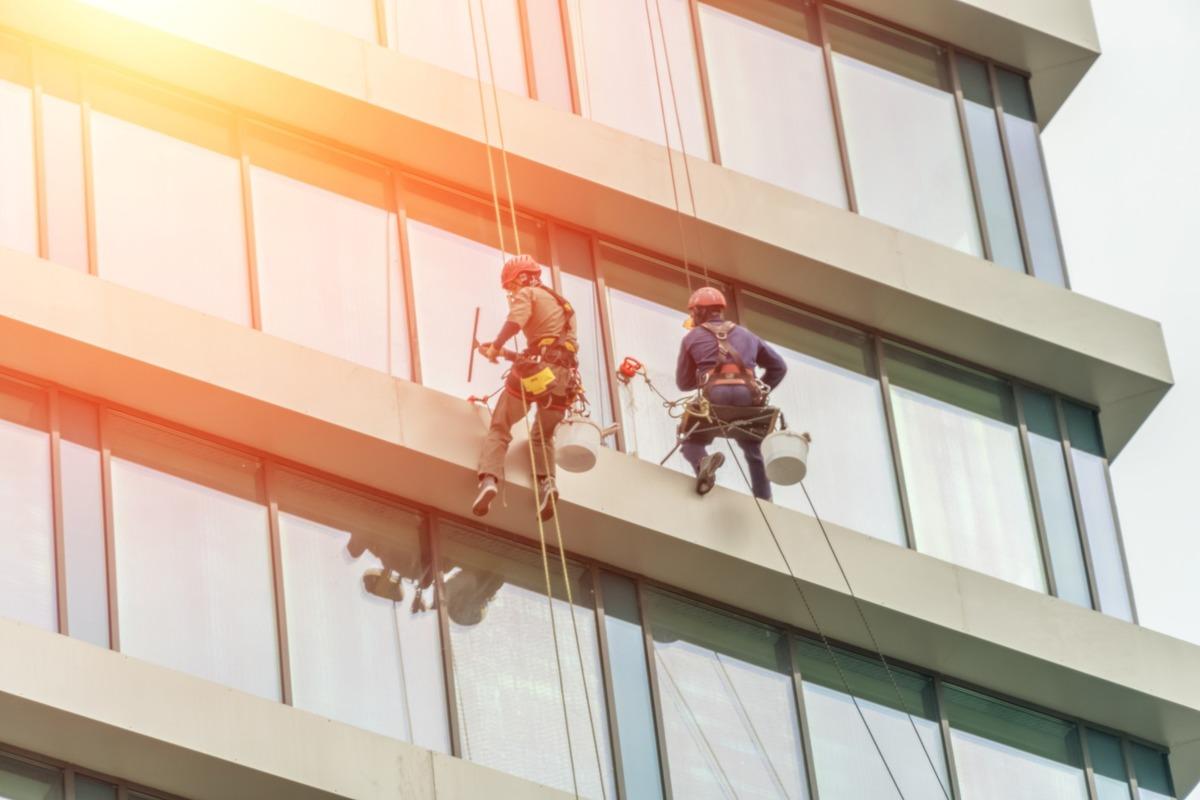 Service de nettoyage de vitres inaccessible